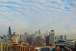 13 February 2015:   Buildings, structures and city views of Chicago Illinois from the McCormick Hyatt Hotel.