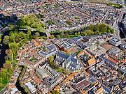 Nederland, Noord-Holland, Alkmaar, 07-05-2021; historische binnenstad Alkmaar met Grote Sint-Laurenskerk, Singelgracht, Clarissenbolwerk. Bagijnenstraat, Koorstraat.<br /> Historic city center of Alkmaar with Grote Sint-Laurenskerk, Singelgracht, Clarissenbolwerk. Bagijnenstraat, Koorstraat.<br /> <br /> luchtfoto (toeslag op standaard tarieven);<br /> aerial photo (additional fee required)<br /> copyright © 2021 foto/photo Siebe Swart