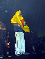 Members of the band Wheatus on stage, T in the Park, Balado, Fife, 7/7/2001..©2010 Michael Schofield. All Rights Reserved.