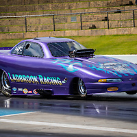 Russell Ladbrook's (2809) Dodge Daytona Funny Car runs in Top Comp at the Perth Motorplex, competing here in AA/FC trim