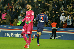 January 19, 2019 - Paris, Ile de France, France - Paris SG Striker EDINSON CAVANI score the fourth goal during the French championship League 1 Conforama match Paris SG against EA Guingamp at the Parc des Princes Stadium in Paris - France..Paris SG won 9-0 (Credit Image: © Pierre Stevenin/ZUMA Wire)