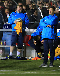 20 February 2017 - The FA Cup - (5th Round) - Sutton United v Arsenal - Sutton United reserve goalkeeper Wayne Shaw (L) alongside Paul Doswell manager of Sutton United  - Photo: Marc Atkins / Offside.