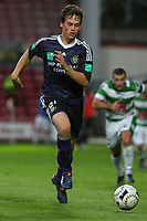 Football - UEFA Champions League 3rd Qualifying Round - The New Saint's vs. Anderlecht<br /> Anderlecht's Tom De Sutter chases down the ball at the Racecourse Ground, Wrexham