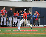 Ole Miss' Austin Anderson (8) scores in the 7th inning vs. Lipscomb at Oxford-University Stadium in Oxford, Miss. on Sunday, March 10, 2013. Ole Miss won 9-8. The Rebels improve to 16-1.