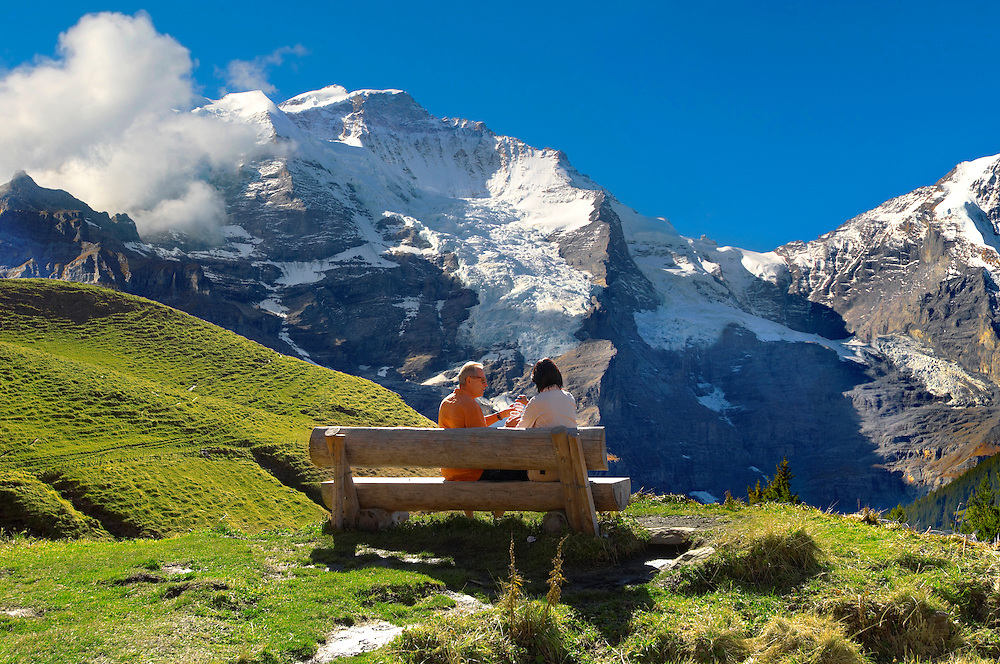 Grindelwald First - Picnic- Swiss Alps - Switzerland .<br /> <br /> Visit our SWITZERLAND  & ALPS PHOTO COLLECTIONS for more  photos  to browse of  download or buy as prints https://funkystock.photoshelter.com/gallery-collection/Pictures-Images-of-Switzerland-Photos-of-Swiss-Alps-Landmark-Sites/C0000DPgRJMSrQ3U