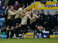 Photo: Steve Bond/Richard Lane Photography. Leicester City v Huddersfield Town. Coca Cola League One. 24/01/2009. Keigan Parker celebrates his goal