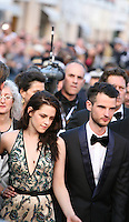 Kirsten Stewart, Tom Sturridge, at the On The Road gala screening red carpet at the 65th Cannes Film Festival France. The film is based on the book of the same name by beat writer Jack Kerouak and directed by Walter Salles. Wednesday 23rd May 2012 in Cannes Film Festival, France.