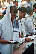 A bar mitzvah celebration at the wailing wall in Jerusalem