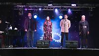 Joel Montague, Gemma Sutton, Joel Harper-Jackson, Bree Smith taking part in  Songs Under The Stars - a Picnic Concert ot  Betley Court Farm Betley Court Farm near Crewe. 22.08.20
