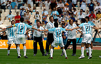 28/08/04 - ATHENS - GREECE -  - OLYMPIC FOOTBALL - FINAL MATCH - MENS  -  <br />ARGENTINA (1) Vs. PARAGUAY (0) At the Olympic Stadium in Athens. Argentine win the goal medal<br />MARCELO BIELSA.<br />© Gabriel Piko / Argenpress.com / Piko-Press