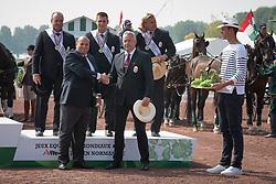 Team HUN, Jozsef Dobrovitz Jr, Jozsef Dobrovitz, Zoltan Lazar - Driving Cones - Alltech FEI World Equestrian Games™ 2014 - Normandy, France.<br /> © Hippo Foto Team - Dirk Caremans<br /> 07/09/14