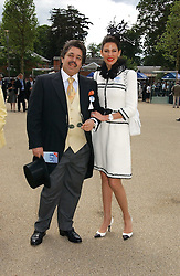 MR & MRS WALID JUFFALI she was Christina Estrada at the first day of the Royal Ascot racing festival 2006 at Ascot Racecourse, Berkshire on 20th June 2006.<br /><br />NON EXCLUSIVE - WORLD RIGHTS