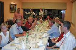 Belgium team on the table<br /> Nations Cup round 1<br /> World Equestrian Games Jerez de la Fronteira 2002<br /> Photo © Hippo Foto - Dirk Caremans