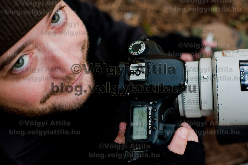 Paparazzi working taking photos in a forest near the house of Angelina Jolie and Brad Pitt in Budapest, Hungary on October 31, 2011. ATTILA VOLGYI