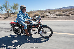 Motorcycle Cannonball Race of the Century. Stage-14 ride from Lake Havasu CIty, AZ to Palm Desert, CA. USA. Saturday September 24, 2016. Photography ©2016 Michael Lichter.
