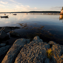 The shoreline on Little Deer Isle in Maine.