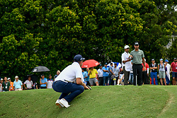 October 13, 2018 - Kuala Lumpur, Malaysia - Gary Woodland(C) of United States in action during the third round of the CIMB Classic at TPC Kuala Lumpur on 13 October, 2018 in Kuala Lumpur, Malaysia  (Credit Image: © Chris Jung/NurPhoto via ZUMA Press)
