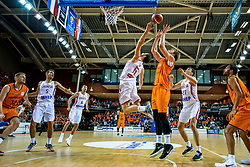 24-11-2017 NED: WC qualification Netherlands - Croatia, Almere<br /> First Round - Group D at the arena Topsportcentrum / Henk Norel #23 of Netherlands, Miro Bilan #15 of Croatia