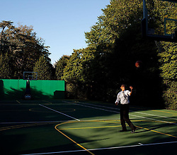 """Pete Souza releases a photo on Instagram with the following caption: """"Seven years ago today: shooting hoops during a break between meetings."""". Photo Credit: Instagram *** No USA Distribution *** For Editorial Use Only *** Not to be Published in Books or Photo Books ***  Please note: Fees charged by the agency are for the agency's services only, and do not, nor are they intended to, convey to the user any ownership of Copyright or License in the material. The agency does not claim any ownership including but not limited to Copyright or License in the attached material. By publishing this material you expressly agree to indemnify and to hold the agency and its directors, shareholders and employees harmless from any loss, claims, damages, demands, expenses (including legal fees), or any causes of action or allegation against the agency arising out of or connected in any way with publication of the material."""