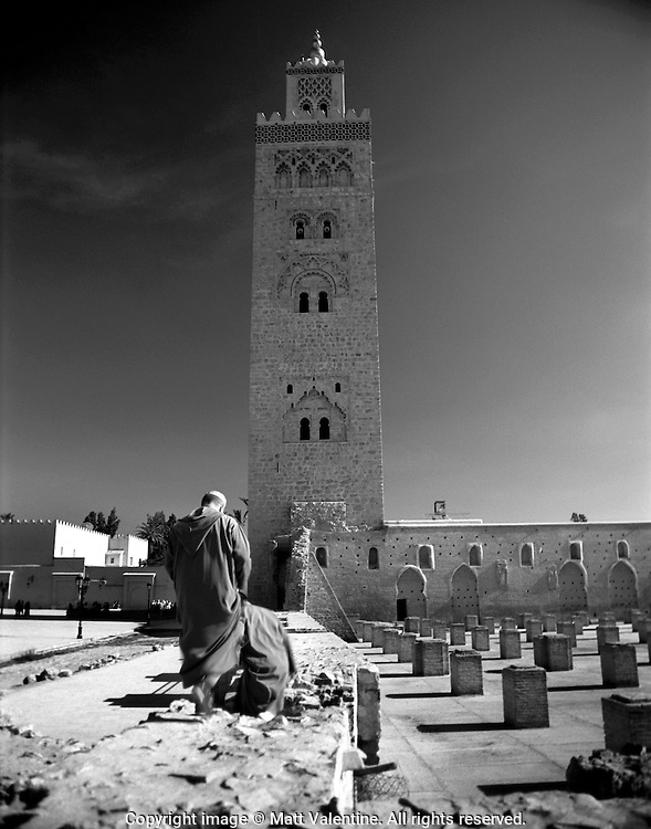 Muslim men on their way to worship in Fez, Morocco.