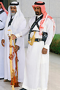 Ceremonial armed guards at the King's Palace in Riyadh, Saudi Arabia