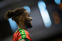 Jenilson Monteiro of Portugal during handball match between National teams of Germany and Portugal in game for Third place of 2018 EHF U20 Men's European Championship, on July 29, 2018 in Arena Zlatorog, Celje, Slovenia. Photo by Urban Urbanc / Sportida