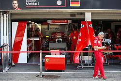 July 19, 2018 - Hockenheim, Germany - Motorsports: FIA Formula One World Championship 2018, Grand Prix of Germany, ..Garage of Scuderia Ferrari  (Credit Image: © Hoch Zwei via ZUMA Wire)