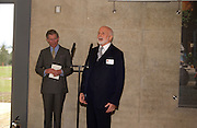 Prince Charles and Sir Peter Moores, Official opening Compton Verney, 23 March 2004. ONE TIME USE ONLY - DO NOT ARCHIVE  © Copyright Photograph by Dafydd Jones 66 Stockwell Park Rd. London SW9 0DA Tel 020 7733 0108 www.dafjones.com