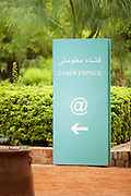 A sign for the free internet Cyberparkin Marrakech, Morocco