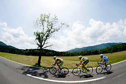 BITENC Jure of KK Sava, CACCIA Diego of Farnese Vini and PASQUALON Andrea of Colnago during 2nd Stage (177,4 km) at 19th Tour de Slovenie 2012, on June 15, 2012, in Kocevje, Slovenia. (Photo by Urban Urbanc / Sportida.com)