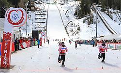 17.03.2017, Ramsau am Dachstein, AUT, Special Olympics 2017, Wintergames, Schneeschuhlauf, Divisioning 100 m, im Bild Hsiao-Chuan Chang (TWN), BIB 78, Chia-Hui Wang (TWN), BIB 88 // during the Snowshoeing Divisioning 100 m at the Special Olympics World Winter Games Austria 2017 in Ramsau am Dachstein, Austria on 2017/03/17. EXPA Pictures © 2017, PhotoCredit: EXPA / Martin Huber