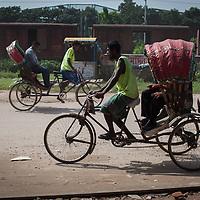 Rickshaw drivers in Dhaka, Bangladesh
