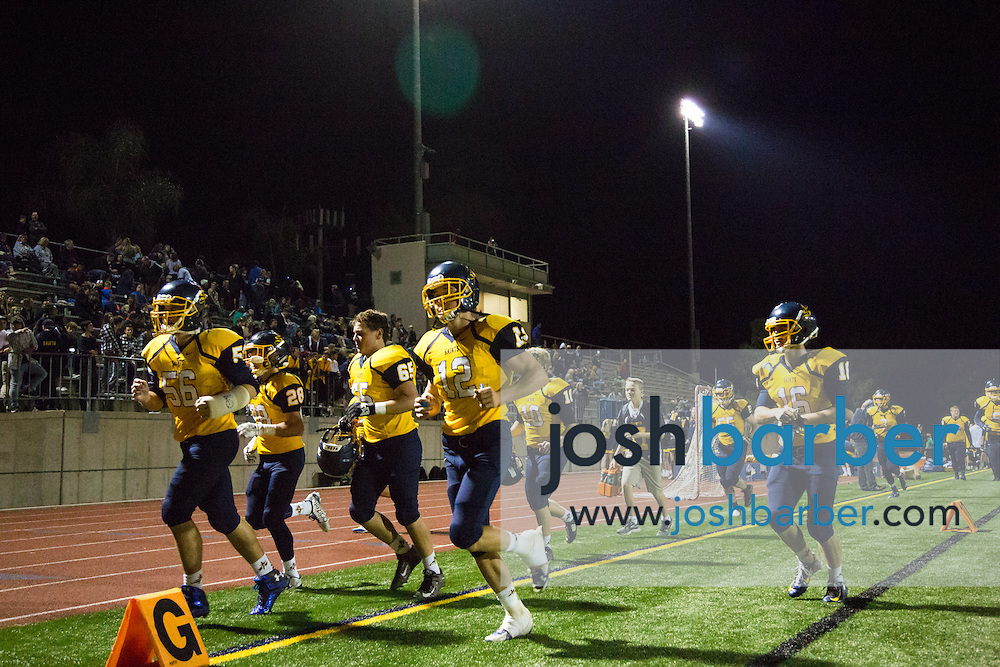 Crean Lutheran team during the CIF-SS East Valley Divison Second Round  at Irvine High School on Friday, November 20, 2015 in Irvine, California. (Photo/Josh Barber)