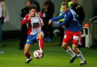 Fotball , 29. oktober 2006 , Tippeligaen , Lyn - Fredrikstad 1-2<br /> Bjarne Kortgaard Ingebretsen , Lyn og Patrik Gerrbrand , Fredrikstad