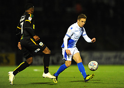 Sam Matthews of Bristol Rovers competes with Rhys Browne of Yeovil Town- Mandatory by-line: Nizaam Jones/JMP - 09/10/2018 - FOOTBALL - Memorial Stadium - <br /> Bristol, England - Bristol Rovers v Yeovil Town - Checkatrade Trophy