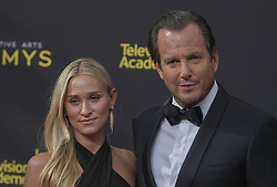 September 14, 2019, Los Angeles, California, United States of America: Will Arnett and Alessandra Braun at the red carpet of the 2019 Creative Arts Emmy Awards on Saturday September 14, 2019 at the Microsoft Theater in Los Angeles, California. JAVIER ROJAS/PI (Credit Image: © Prensa Internacional via ZUMA Wire)