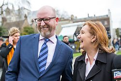 © Licensed to London News Pictures. 29/03/2017. London, UK. Leader of UKIP Paul Nuttall and Suzanne Evans on College Green. British Prime Minister Theresa May is due to deliver article 50 today. Photo credit : Tom Nicholson/LNP