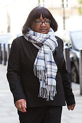 © Licensed to London News Pictures. 01/05/2016. LONDON, UK.  Labour Party Shadow Cabinet Minister, DIANE ABBOTT leaving via the back door after appearing on the Andrew Marr show at BBC Centre in London.  Photo credit: Vickie Flores/LNP