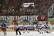 Rapperswils gegen Ambris  im Spiel der National League A zwischen den Rapperswil-Jona Lakers und dem HC Ambri-Piotta, am Samstag, 28. März 2015, in der Diners Club Arena Rapperswil-Jona. (Thomas Oswald)