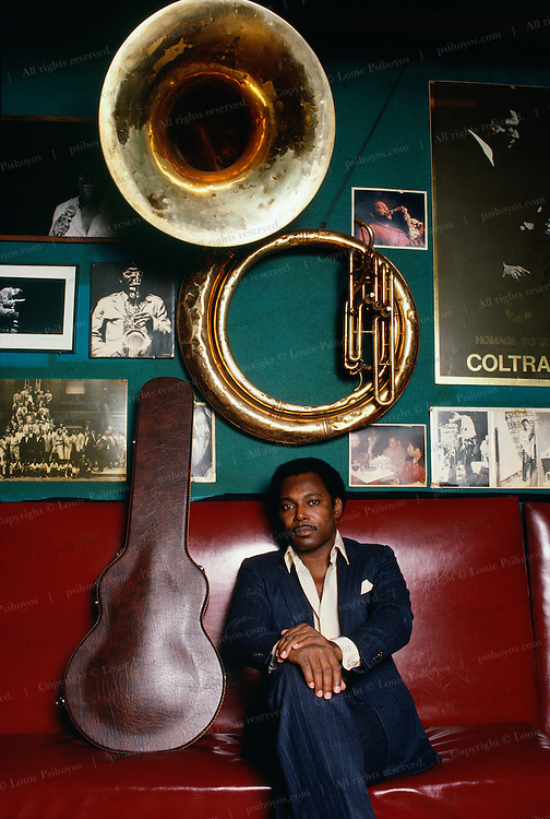 George Benson, guitarist and singer at the Villiage Vanguard in New York City, 1985