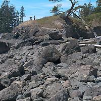 Hikers at Deception Pass, Washington.
