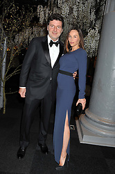 Actress VANESSA DEMOUY and PHILIPPE LELLOUCHE at the Relais & Chateaux 'Diner des Grands Chefs' held at Old Billingsgate, London EC3 on 22nd April 2013.