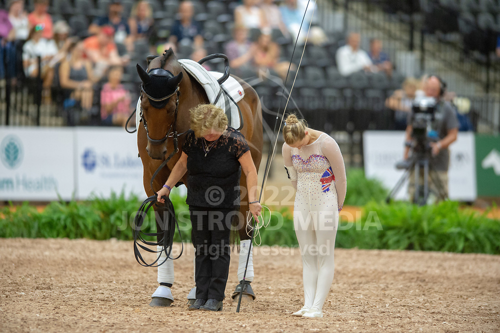 Lucy Phillips (GBR) & Demezza lunged by Julie Newell - Vaulting Compulsories - FEI World Equestrian Games™ Tryon 2018 - Tryon, North Carolina, USA - 18 September 2018