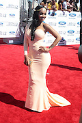 June 30, 2012-Los Angeles, CA : Recording Artist/Actress Lola Monroe attends the 2012 BET Awards held at the Shrine Auditorium on July 1, 2012 in Los Angeles. The BET Awards were established in 2001 by the Black Entertainment Television network to celebrate African Americans and other minorities in music, acting, sports, and other fields of entertainment over the past year. The awards are presented annually, and they are broadcast live on BET. (Photo by Terrence Jennings)