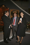 Larry Stranger, Richard Reisser and Zita Saurel, The opening  day of the Grosvenor House Art and Antiques Fair.  Grosvenor House. Park Lane. London. 14 June 2006. ONE TIME USE ONLY - DO NOT ARCHIVE  © Copyright Photograph by Dafydd Jones 66 Stockwell Park Rd. London SW9 0DA Tel 020 7733 0108 www.dafjones.com