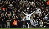 Photo: Paul Thomas.<br /> Tottenham Hotspur v Arsenal. Calring Cup, Semi Final 1st Leg. 24/01/2007.<br /> <br /> <br /> Dimitar Berbatov of Spurs celebrates his goal.