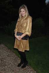 TARA SUMMERS at the annual Cartier Chelsea Flower Show dinner held at the Chelsea Physic Garden on 21st May 2007.<br />