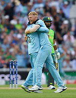 Cricket - 2019 ICC Cricket World Cup - Group Stage: England vs. South Africa<br /> <br /> England's Ben Stokes celebrates taking the wicket of South Africa's Imran Tahir caught by Joe Root, at The Kia Oval.<br /> <br /> COLORSPORT/ASHLEY WESTERN