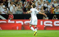 Fotball<br /> Privatlandskamp<br /> Tyskland v Armenia<br /> 06.06.2014<br /> Foto: Witters/Digitalsport<br /> NORWAY ONLY<br /> <br /> 5:1 Jubel Torschuetze Mario Goetze (Deutschland) <br /> Fussball, Testspiel, Deutschland - Armenien 6:1