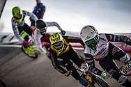 #959 (SCHOTMAN Mitchel) NED at Round 2 of the 2018 UCI BMX Superscross World Cup in Saint-Quentin-En-Yvelines, France.